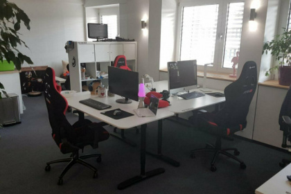 Co-Working Space in Startup Umgebung