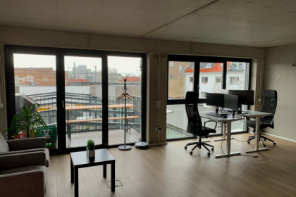 Bürobereich in modernem Start-up Büro in Ehrenfeld